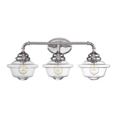 McKay 3-Light Chrome Bath Vanity Light