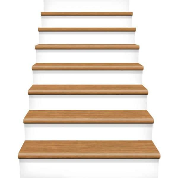 Cap A Tread Royal Oak Classic Auburn Oak 47 In Length X 7 3 8 In Wide X 1 2 In Thick Laminate Riser To Be Used With Cap A Tread 017074537 The Home Depot