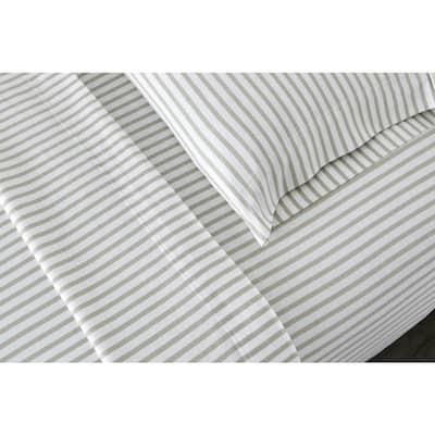 Jersey Knit Printed 150-Thread Count Cotton Blend Sheet Set