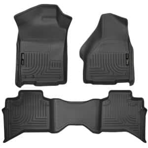 Husky Liners Front 2nd Seat Floor Liners Fits 09 18 Ram 1500 Crew Cab 99001 The Home Depot