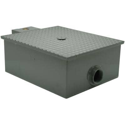 10 in x 21 in Low-Profile Grease Trap with 3in. NH Connection