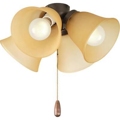 Fan Light Kits Collection 4-Light Antique Bronze Ceiling Fan Light Kit
