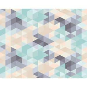 Pastel Triangles Wall Mural