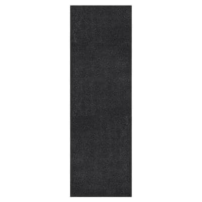 Grey Grass 2 ft. 7 in. x 8 ft. Gray Artificial Grass Area Rug