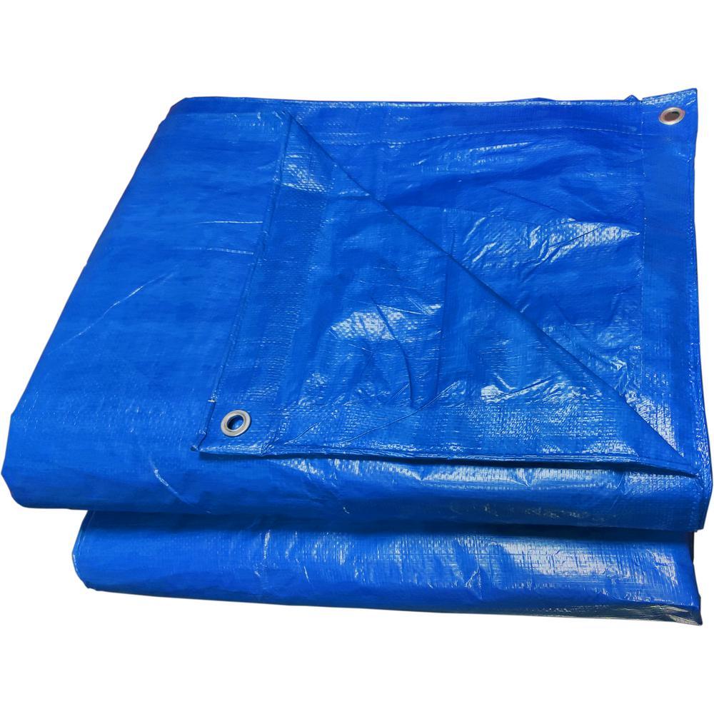 16 ft. x 20 ft. Blue Gen Purpose Tarp (2-Pack)