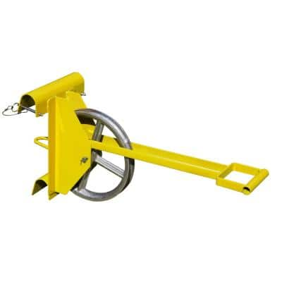 Long Handle Hoisting Wheel for Use with Ladder