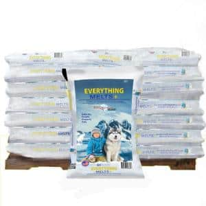 Everything Melts Plus 50 lbs. Pallet Infused Ice Melt (49-Bag)