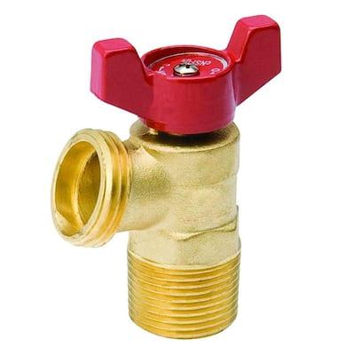 1/2 in. Brass MPT Quarter-Turn Male Boiler Drain Valve
