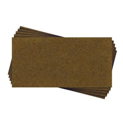 1/8 in. x 48 in. x 24 in. Standard Brown Hardboard Wainscoting Panel Kit (5-Pack) 40 sq. ft.