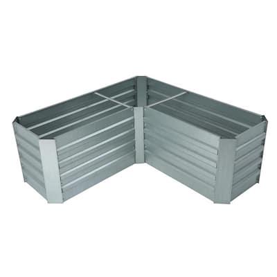 L-Shaped Galvanized Metal Raised Garden Bed
