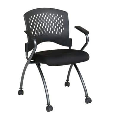 Coal FreeFlex Rolling Visitor Office Chair (Set of 2)