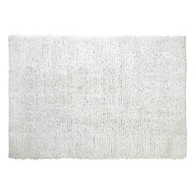 Microfiber Shag White 7 ft. x 9 ft. Area Rug