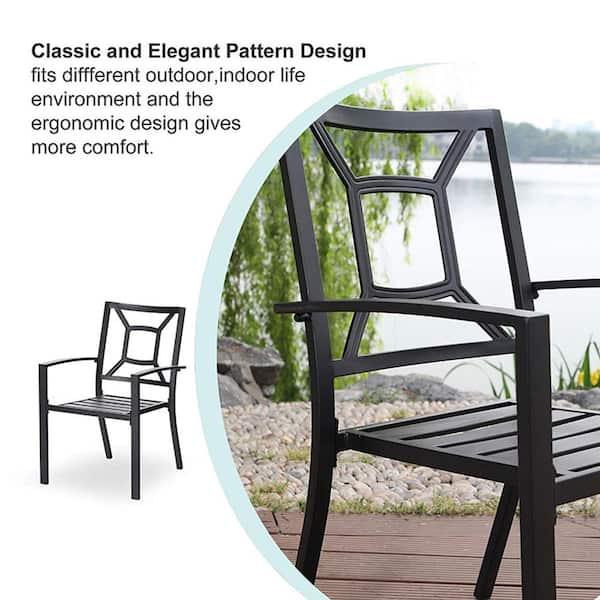 Nuu Garden Stacking Wrought Iron, Wrought Iron Patio Furniture End Caps Home Depot