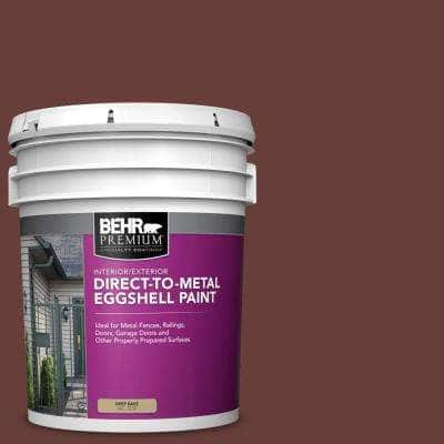 Behr Premium 5 Gal Ppu2 01 Chipotle Paste Eggshell Direct To Metal Interior Exterior Paint 723005 The Home Depot