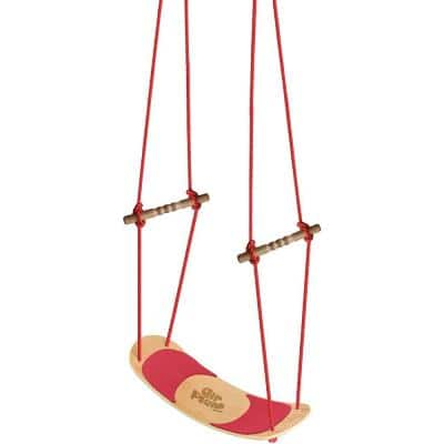 Maple/Red AirPlank Surfboard Swing With Adjustable Rope - Fully Assembled