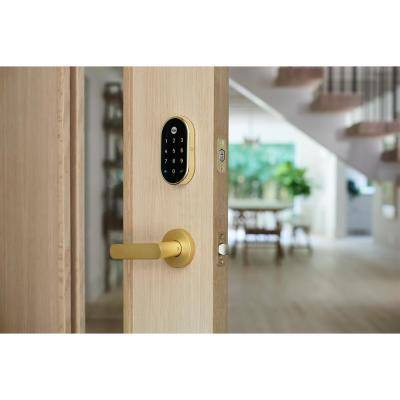 Nest x Yale Lock - Smart Deadbolt Lock with Nest Connect - Polished Brass
