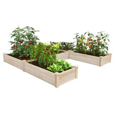 8 ft. x 8 ft. x 10.5 in. Original Pine U-Shaped Raised Garden Bed