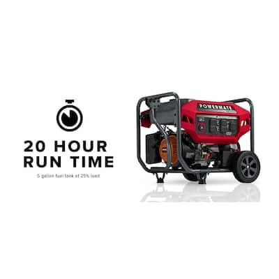 PM4500E 3600 Running-Watt Electric Start Gasoline Powered Portable Generator, 49 ST/CSA