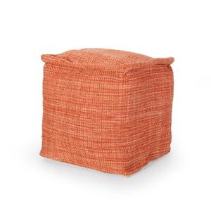 Cadence Terra Cotta Cube Pouf