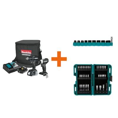 18-Volt LXT Sub-Compact Brushless 2Pc. Combo Kit with ImpactXPS 10 Pc. Impact Socket and ImpactXPS 35 Pc. Impact Bit Set