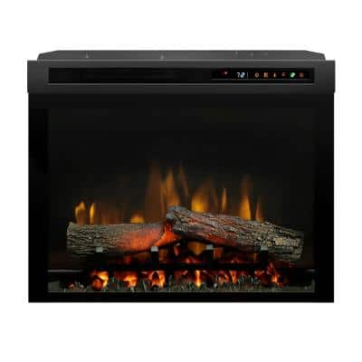 Multi-Fire XHD 23 in. Built-in Electric Fireplace Firebox with Logs in Black