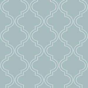 Slate Blue Quatrefoil Vinyl Peel & Stick Wallpaper Roll (Covers 30.75 Sq. Ft.)