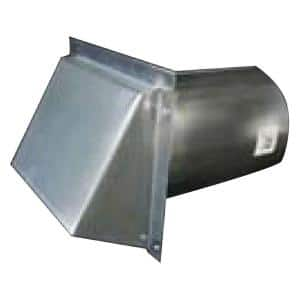 10 in. Round Galvanized Wall Vent with Spring Return Damper