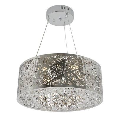 Crystal Nest 26-Watt Integrated LED Stainless Steel Pendant