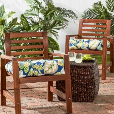 Marlow Floral Square Tufted Outdoor Seat Cushion (2-Set)