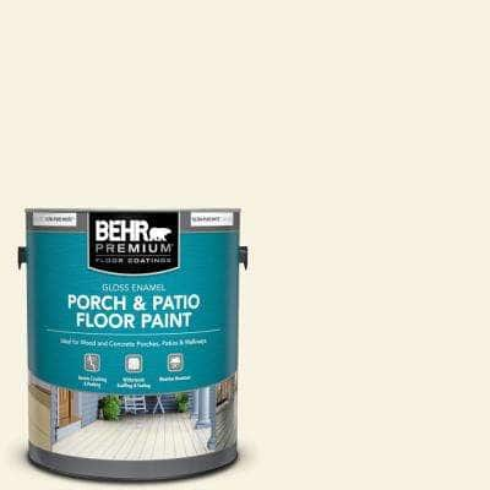 1 gal. #W-F-100 Belgian Cream Gloss Enamel Interior/Exterior Porch and Patio Floor Paint
