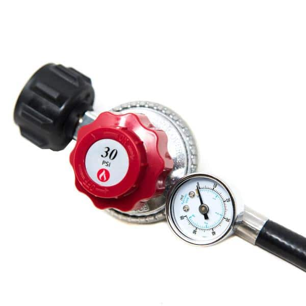 Gasone 12 Ft 0 Psi To 30 Psi High Pressure Propane Regualtor And Hose With Psi Gauge 2120 012 The Home Depot