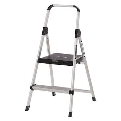 2 ft. Aluminum Step Stool, 7 ft. Reach 225 lbs. Capacity