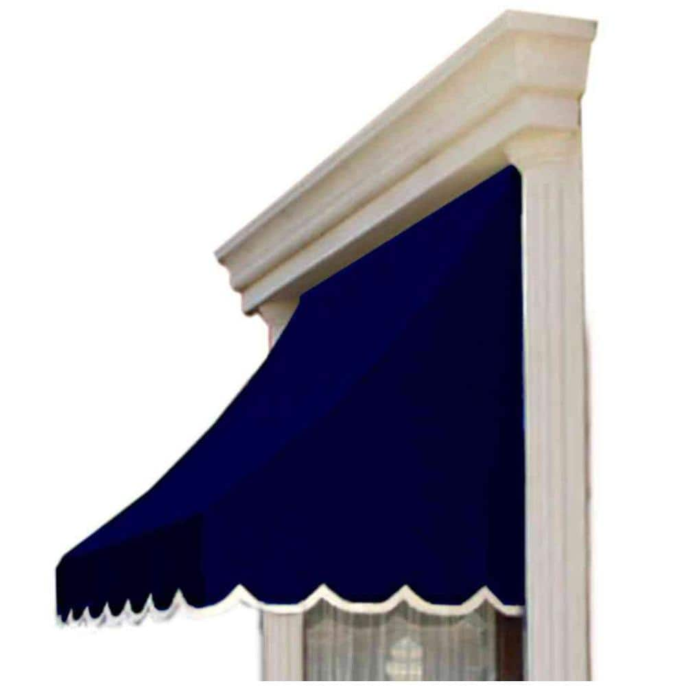 Reviews For Awntech 3 38 Ft Wide Nantucket Window Entry Awning 31 In H X 24 In D In Navy Nn22 3n The Home Depot