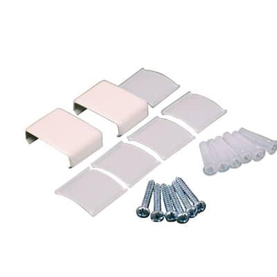 Wiremold Non-Metallic PVC Raceway Accessory Set, White