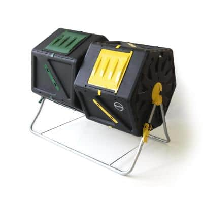 Miracle-Gro Dual 28 Gal. Tumbling Garden Soil Composter with Hand Tool Kit