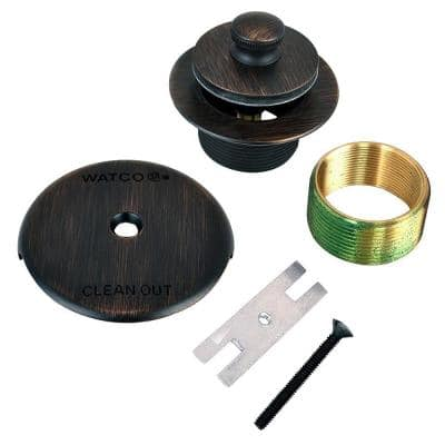 1.625 in. Overall Diameter x 16 Threads x 1.25 in. Lift and Turn Bathtub Stopper with Bushing Trim, Oil-Rubbed Bronze