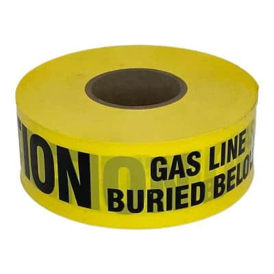 3 in. 1000 ft. Direct Burial Gas Caution Tape