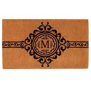 Garbo Monogram Door Mat, Extra-Thick 24 in. x 36 in. (Letter M)