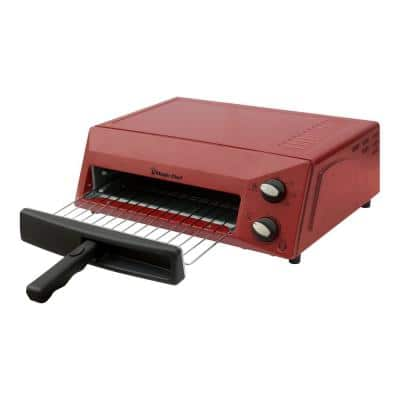 Countertop Pizza Oven in Red