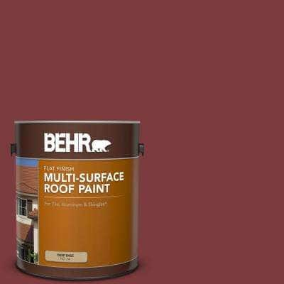1 gal. #PFC-02 Brick Red Flat Multi-Surface Exterior Roof Paint