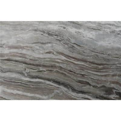 3 in. x 3 in. Marble Countertop Sample in Fantasy Brown Polished