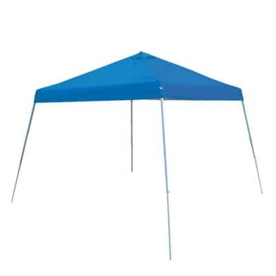 10 ft. x 10 ft. Slantleg Instant Pop Up Tent with Blue Cover