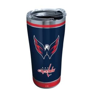 NHL Washington Capitals Shootout 20 oz. Stainless Steel Tumbler with Lid