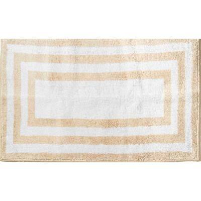Basel Reversible Cotton Sandshell 21 in. x 34 in. Bath Rug