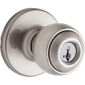 Polo Satin Nickel Entry Door Knob Featuring SmartKey Security