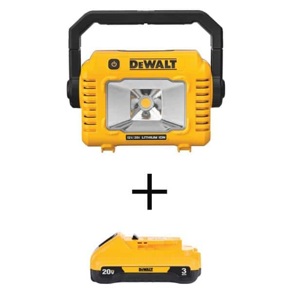 DEWALT 20-Volt MAX Lithium-Ion Compact Task Light with (1) 20-Volt Compact 3.0Ah Battery   The Home Depot