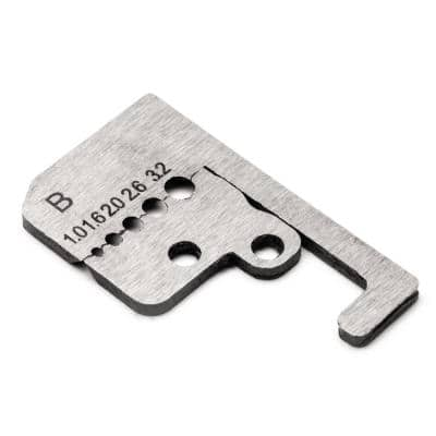 1.0 mm square to 3.2 mm square Wire Stripper Blades