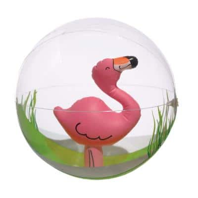 Summer Flamingo 12 in. Inflatable Beach Ball (3-Pack)