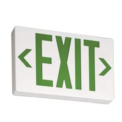 Contractor Select EXG Series 120/277-Volt Integrated LED White and Green Exit Sign W/ Back Up Battery