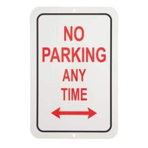 18 in. x 12 in. Aluminum No Parking Any Time Sign